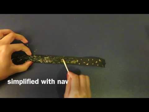 How To Make A Choker Necklace With Glitter Glue