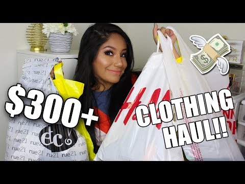 $300+ CLOTHING HAUL! FOREVER 21, H&M, Q, JCPENNEY ETC!!