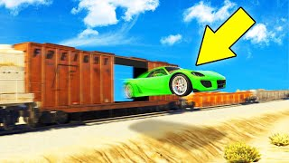 JUMP THROUGH THE TRAIN CHALLENGE! (GTA 5 Funny Moments)