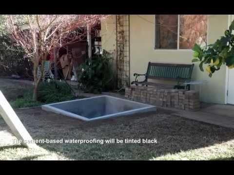 Building a concrete in-ground water garden