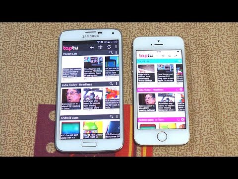 Samsung Galaxy S5 Vs Iphone 5s Opening Apps & Multitasking Speed Comparison