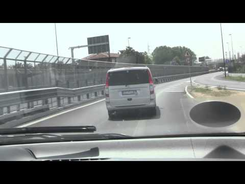 Drive from Venice Marco Polo Airport to Venice Cruise Ship Terminal (Time Lapse) - 28th July, 2012