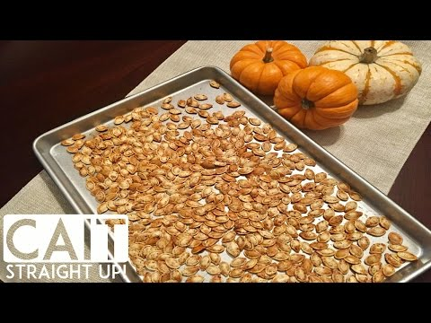 Roasted Pumpkin Seeds Recipe | How To Make Pumpkin Seeds | Cait Straight Up