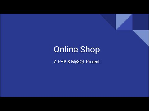 Online Shop Project Using PHP & MySQL -  Day 1