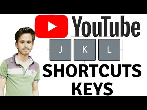 YouTube Keyboard Shortcuts For Forward Backward Pause etc.