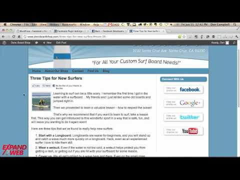 Facebook for WordPress Plugin - How To Set It Up (Video)