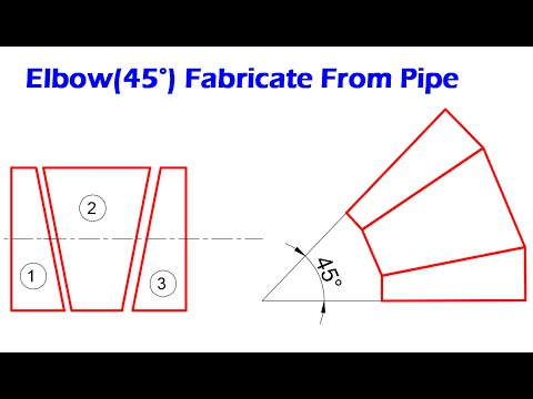 Piping_Fabricate 45 Degree Elbow(miter bend) from pipe