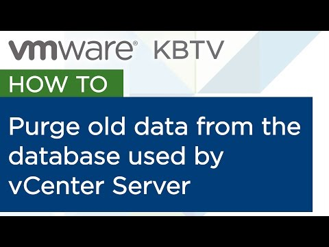 Purging old data from the database used by vCenter Server