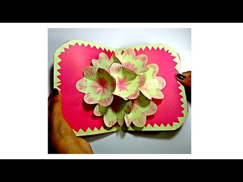 How to Make 3D Flower Pop Up Card || Pop up Birthday Card Diy || Pop Up Greeting Card || Craftastic