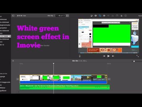 White green screen effect in Imovie