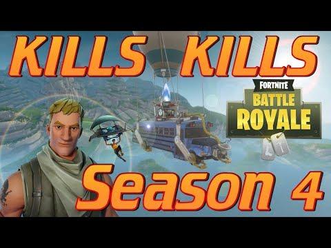 Fortnite Battle Royale:  Season 4 Kills | The Development of a Fortnite Battle Royale Noob