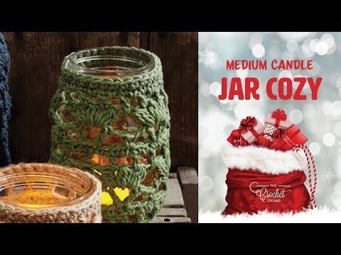 How to Crochet A Medium Mason Jar Cozy
