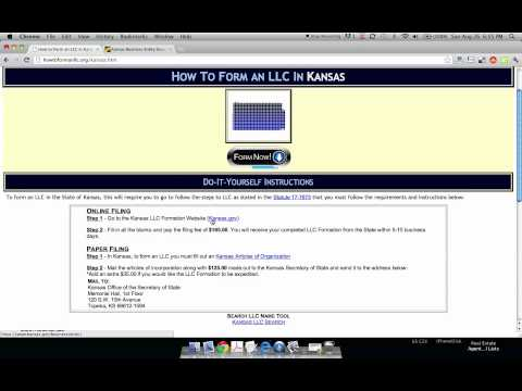 How to Form an LLC in Kansas