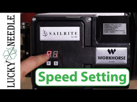 Sailrite Fabricator Workhorse | How To Adjust The Speed Setting