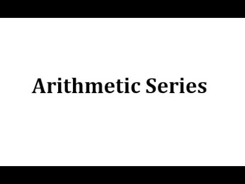 Introduction to Arithmetic Series