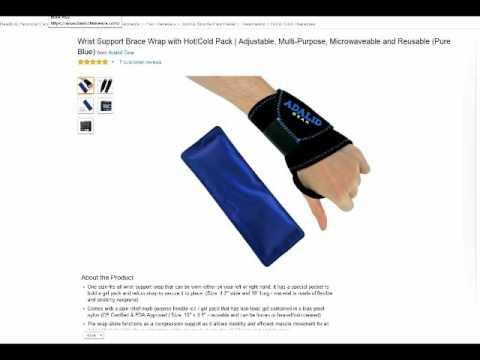 B016FSC6RK Adalid Gear Wrist Support with Gel Pad jpg