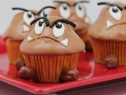 Goomba Cupcakes - QnB