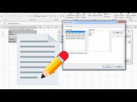 Create a Custom Sort List
