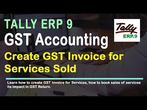 Create Sale of Service Invoice In Tally for GST Release 6