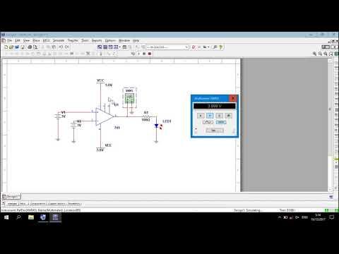 Op-Amp   Comparator Circuit Simulation in Multisim