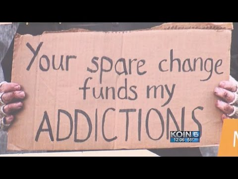 'Your spare change funds my addictions'