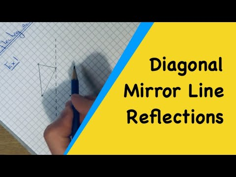 Diagonal Mirror Line Reflections. How To Reflect Shapes In Diagonal Lines Without Tracing Paper.