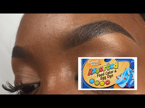 HOW TO: Tint Your Eyebrows at Home Using Food Coloring