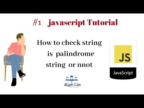 program to check palindrome string or number | JavaScript | C | Hindi