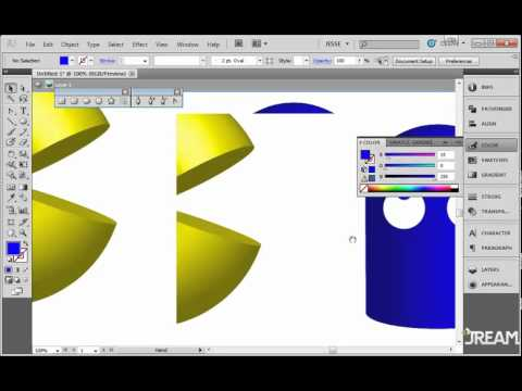 Adobe Illustrator CS5 Tutorial 35   3D Pac Man