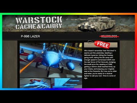 How To Save $6,500,000 On NEW GTA Online DLC Vehicle P-996 Lazer (FREE GTA 5 Online DLC Fighter Jet)
