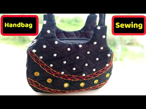 new handbag make at home diy|how to stitch handbag-[cutting and sewing handbag] 2018