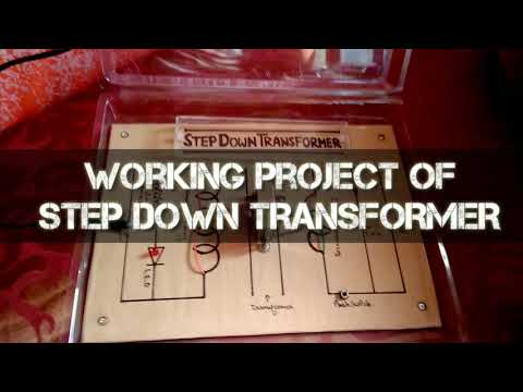 Working Project of STEP DOWN TRANSFORMER | Class 12 Physics Project | Physics Transformer