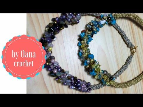 Crochet Beaded Necklace by Oana