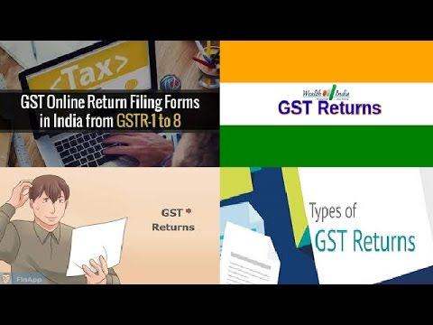 GST : GST Return Filing - GST Return Form | GST Video
