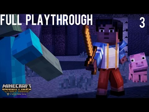 Minecraft Story Mode - Nether Rollercoaster Adventure - Let's Play part 3