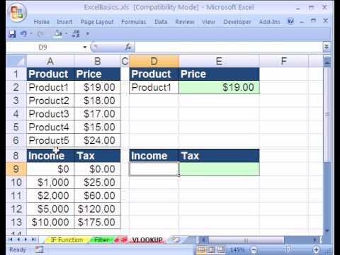 Excel Basics #23: VLOOKUP function formula