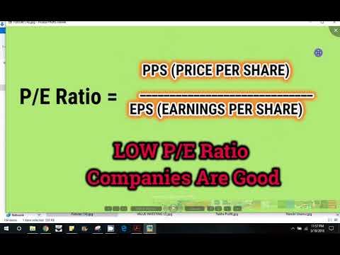 Value Investing in Stock Market- PE Ratio in Tamil