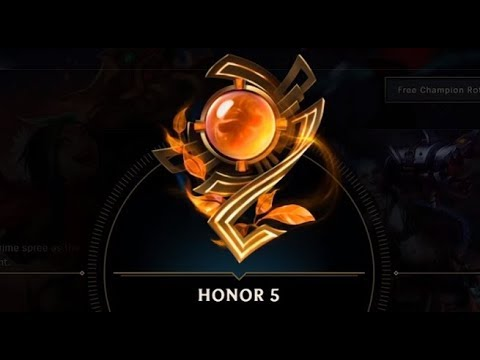Honor Lol: Explaining How I LeveL Up Fast in the New Honor System at League of Legends!