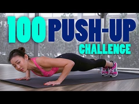 100 PUSH-UP CHALLENGE | Toned Chest & Arms | Joanna Soh