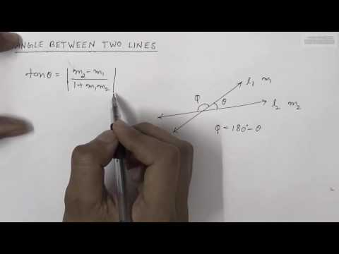 How to Find Angle Between Two Lines (Hindi)