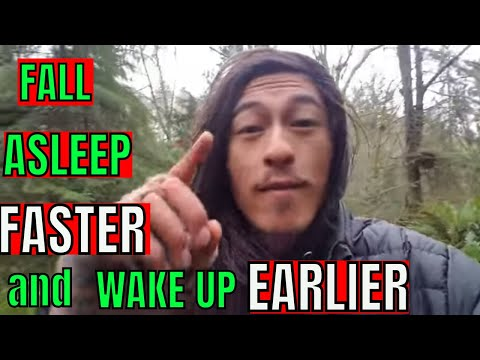 TRICK to FALL ASLEEP FASTER and WAKE UP EARLIER