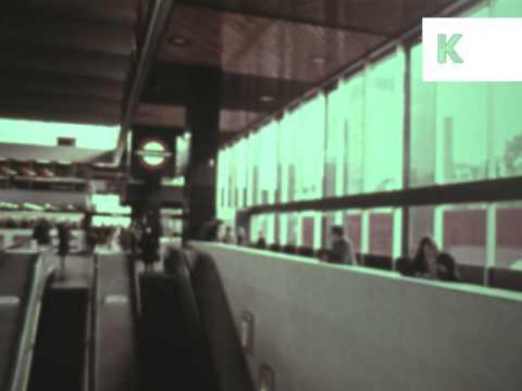 1970s London Euston Train Station, Archive Footage