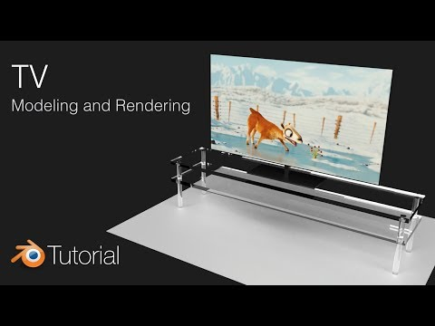 How to Make an Animated TV in Blender (Cycles), Modeling Tutorial