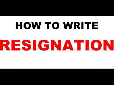 Resignation letter video