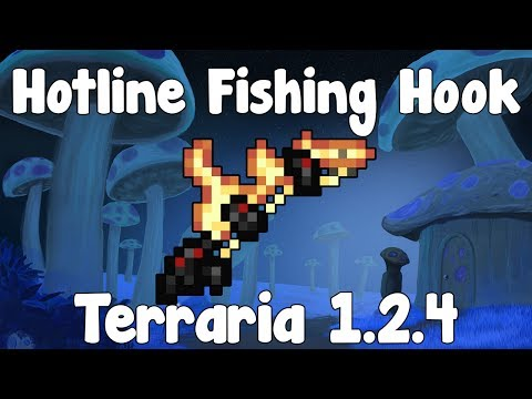 Hotline Fishing Hook - Terraria 1.2.4 Guide New Fishing Rod! - GullofDoom