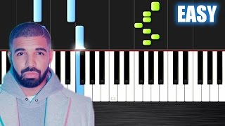 Drake - Hotline Bling - EASY Piano Tutorial by PlutaX - Synthesia