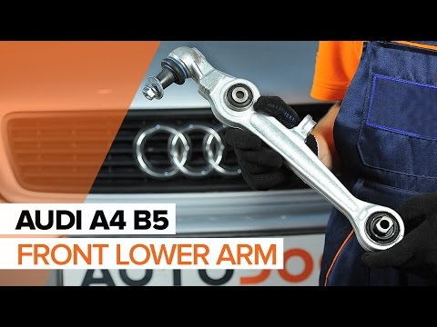 How to replace front lower arm on AUDI A4 B5 TUTORIAL   AUTODOC