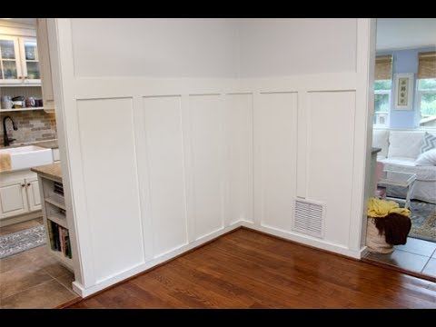 How to Hang Board and Batten in Dining Room