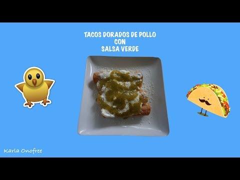 SUPER FACIL Y SENCILLO: Tacos dorados de pollo con salsa verde