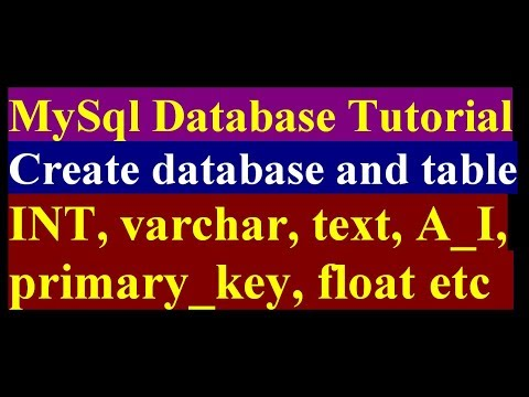How To Create Database and Table in MySql- MySql Bangla Tutorial Part 1